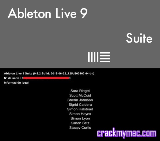 Ableton Live v9.6.2 Suite 64 bit About