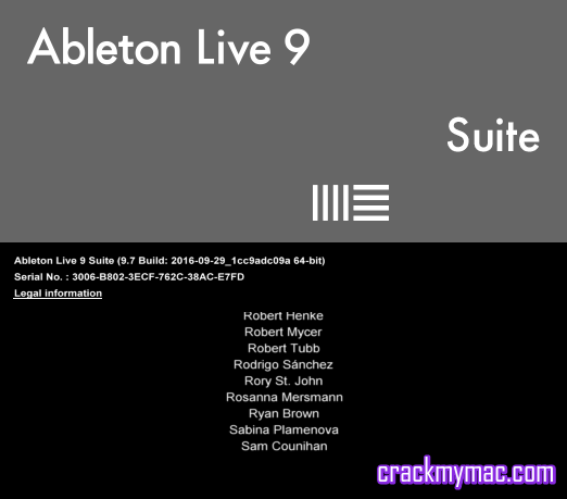 ableton live 9 7 suite full crack mac os x crackmymac. Black Bedroom Furniture Sets. Home Design Ideas